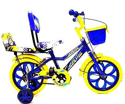 Buy Loop Bikes Loop Kids 14 Inches Blue Yellow Bike For 3-5 Years ...