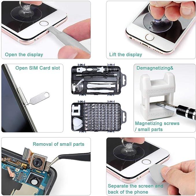 Fulok Easy 115 in 1 Screwdriver Set Multi-Function Manual Repair Tool Box Hand Home Multi-use Repair Mobile Phone Computer Disassembly Tool Box Screws
