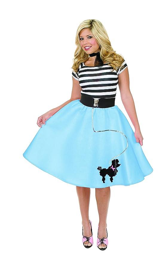 Amazon.com: Charades Women\'s Poodle Skirt Costume: Clothing