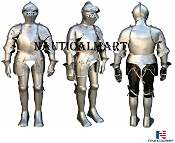Amazon.com: Nauticalart, armadura de placa, medieval ...