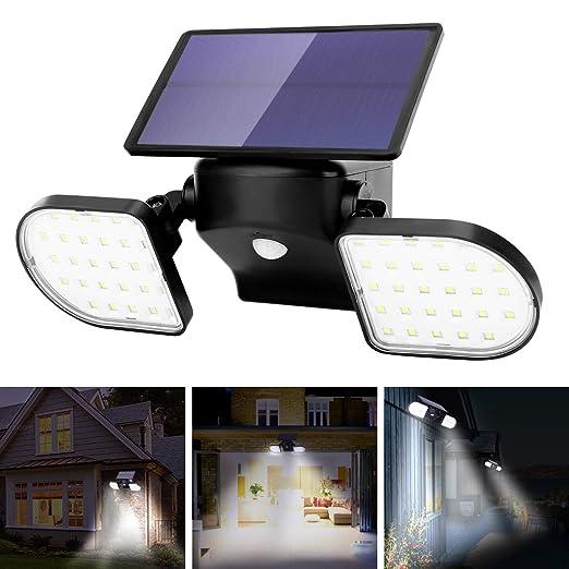 56 LEDs Solarlampe Solarleuchte Außen Solarstrahler mit Bewegungsmelder Licht DE
