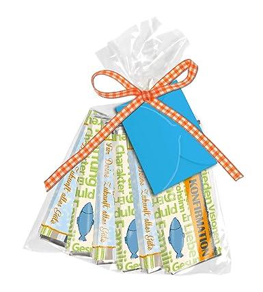 Konfirmation 6er Set Geldgeschenk Mini Schokolade Tütchen