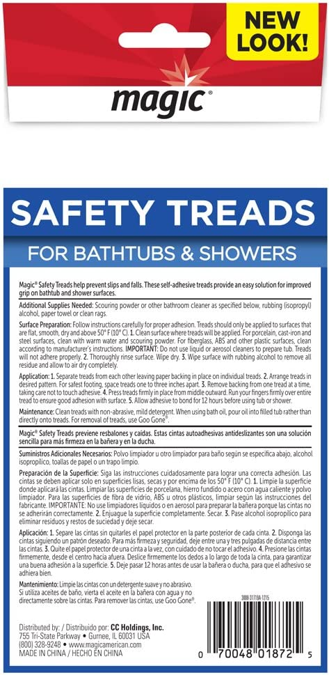 Set of 12 Tub /& Shower Safety Treads Magic Bathtub