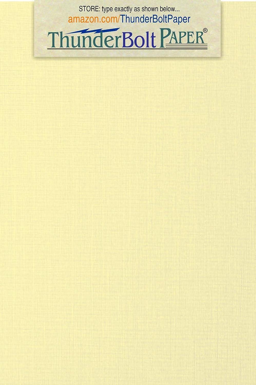 アイボリーリネン 80# カバーペーパーシート 100枚 - 4インチ x 6インチ (4x6インチ) 写真  カード  フレームサイズ - 80ポンド/ポンド カード重量 - 上質リネンテクスチャ仕上げ - 高品質カード用紙 B06XYVDDT4