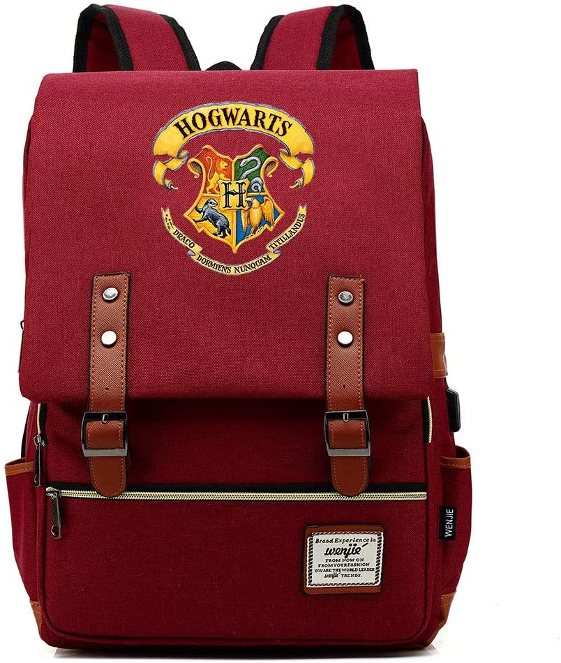 Logo Couleur 14 Noir Fashion Leisure Student Bag Poudlard College Potter Sac /à Dos,Harry P Rucksack