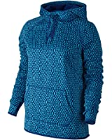 c41a145e587d Nike Women s Therma All Time Mirror Mesh Pullover Hoodie at Amazon ...