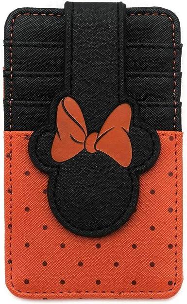 Cartera Tarjetero Disney Minnie Mouse Lazo Rojo LOUNGEFLY