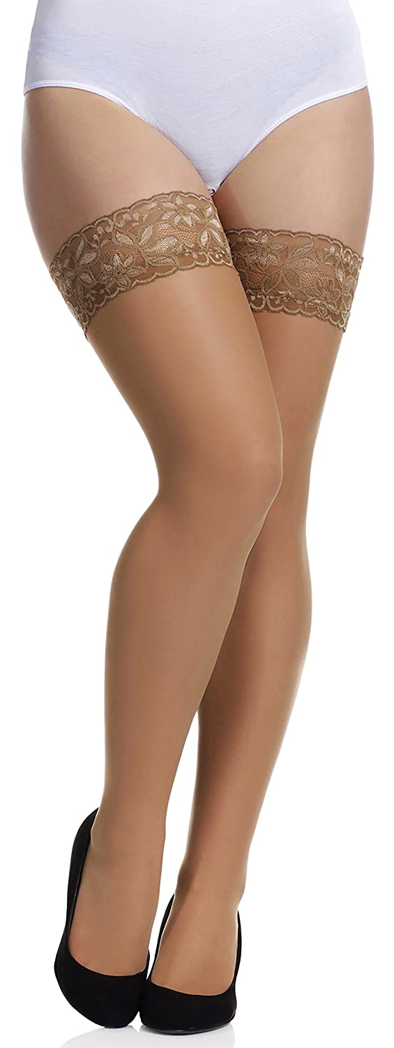 Merry Style Women's 15 DEN Hold Up Stockings Plus Size MS 164 XL/XXL)