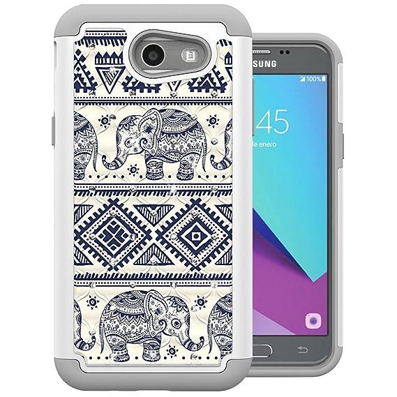 cheap for discount 0ddd2 2626b For Samsung Galaxy J3 Emerge Case, J3 2017 Case, J3 Prime Case, Amp Prime 2  Case, Express Prime 2 Case, MagicSky [Shock Absorption] Studded Rhinestone  ...