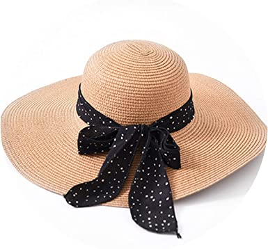 Summer Female Sun Hat Bow Ribbon Panama Beach Hats for Women Sombrero Floppy Straw Hat