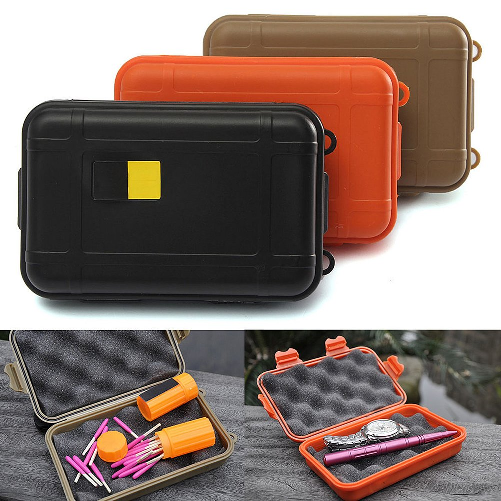 3 Pcs Large Outdoor Plastic Waterproof Airtight Survival Case Container Storage Carry Box by u-hoMEyy
