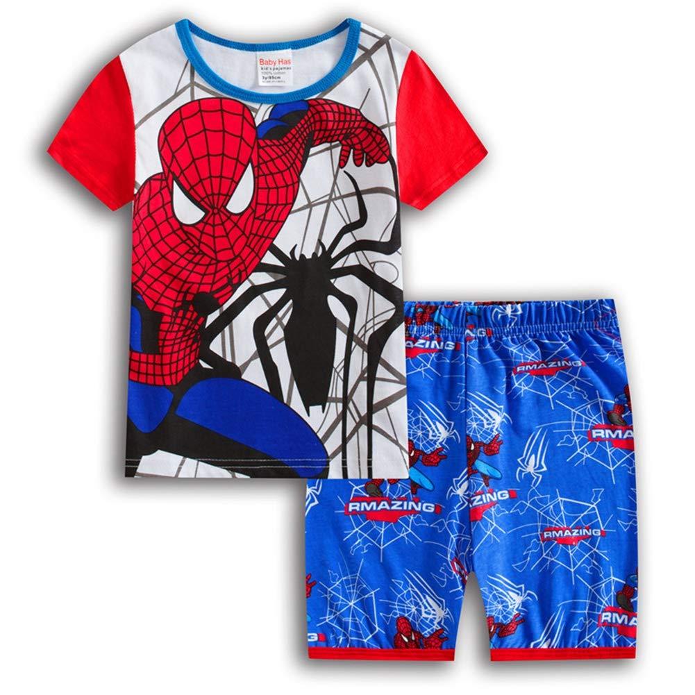Rizoo Boys Pajamas Set Kids Short Pjs Sets Baby Summer Cotton Sleepwears