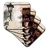 3dRose CST_209975_1 Window Flower Pots in Village