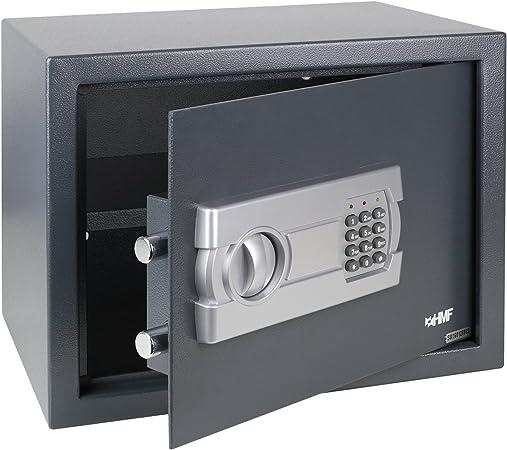 HMF 4612312 Caja Fuerte Cerradura electrónica 38 x 30 x 30 cm, Antracita: Amazon.es: Bricolaje y herramientas