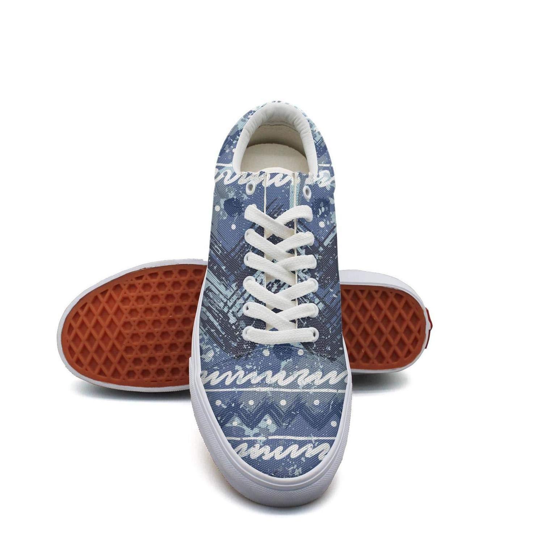 Ouxioaz Womens Tennis Shoe Laces Blue Colors Bohemian Boho Skating Shoes