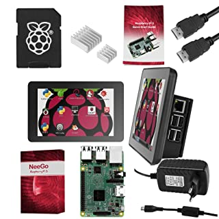 Raspberry Pi 3 Ultimate Starter Kit – Set Barebone Mini Pc Raspi 3 Con Placa Base Raspberry Pi 3 Modelo B, Pantalla Táctil 7