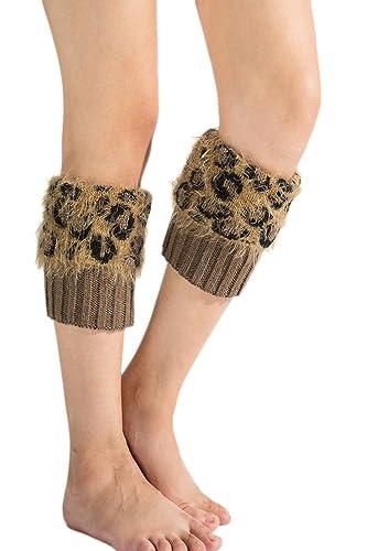 YACUN Las Mujeres Zapatos De Invierno Leg Warmers Knit Boot Socks Puños Cover