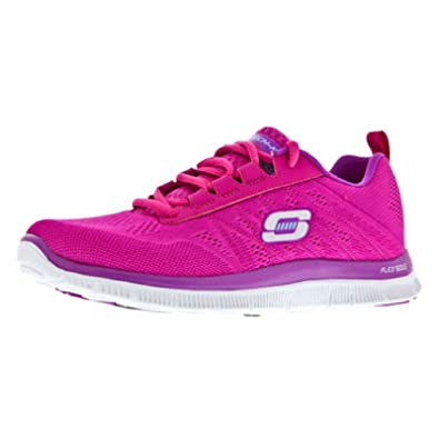 7ccc46c24e96 Skechers SK11729 Flex Appeal Memory Foam   Womens Trainers (8 UK) ( Pink Purple)  Amazon.co.uk  Shoes   Bags