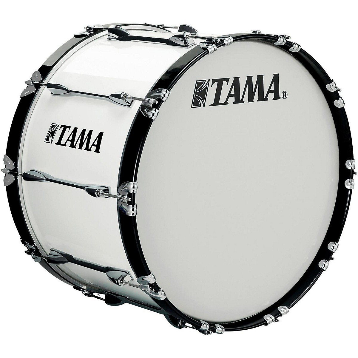Tama Marching 24 x 14 in. Starlight Marching Bass Drum Sugar White by Tama Marching (Image #1)