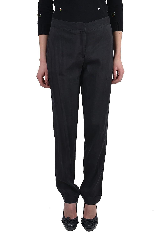 Viktor & Rolf Women's Black Flat Front Casual Pants US 8 IT 44