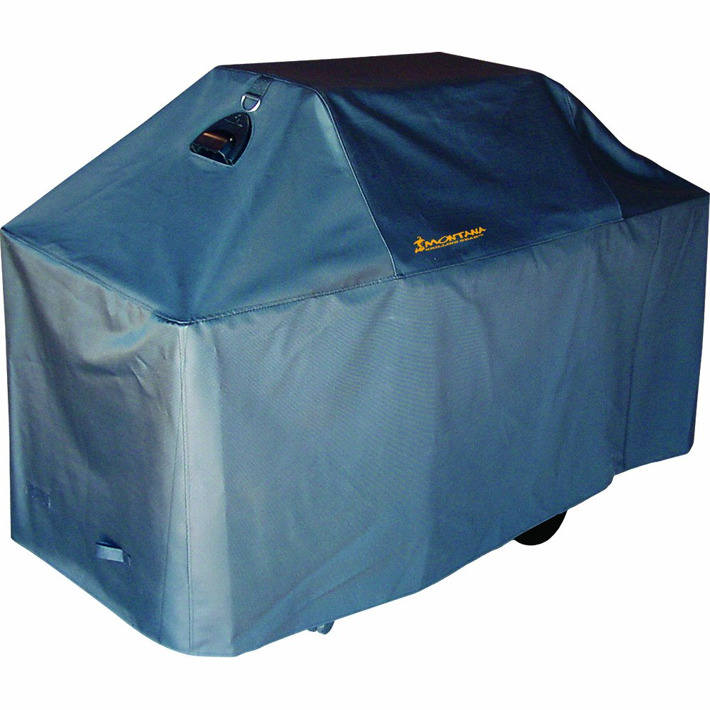 Montana Grilling Gear Premium Grill Cover - Patented Ventilation Technology means BBQ Cover with Reduced Condensation - Weatherproof, Waterproof, Heavy Duty Material - Lifetime Warranty - 74 Inch by Montana Grilling Gear