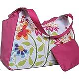 Beach Bag - Bolsa de playa, mujer, rosa, flores (33 x51 x23 cm)