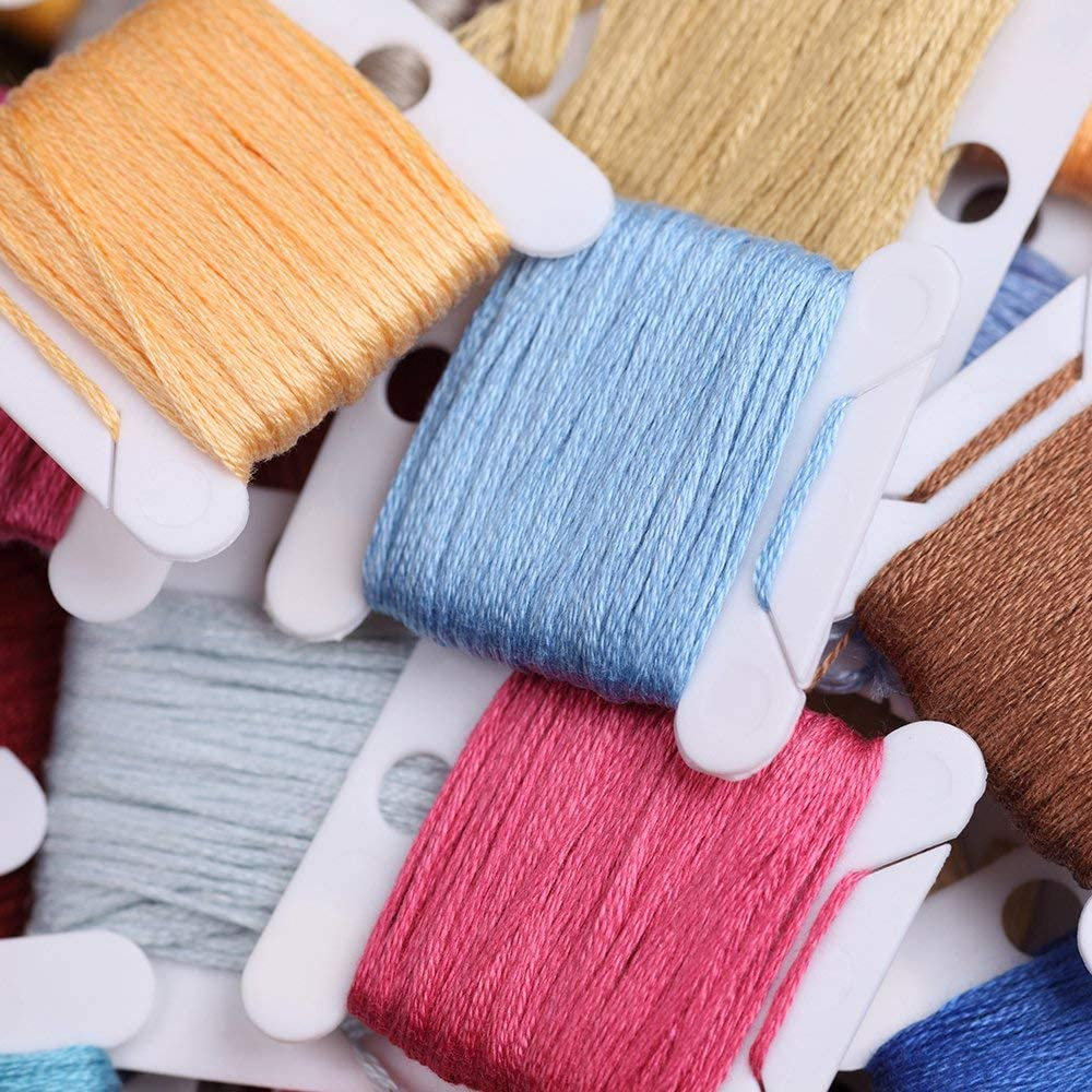 100 Skeins Per Pack Embroidery Floss Rainbow Color Friendship Bracelets String Floss Embroidery Thread Cross Stitch Threads Craft Floss
