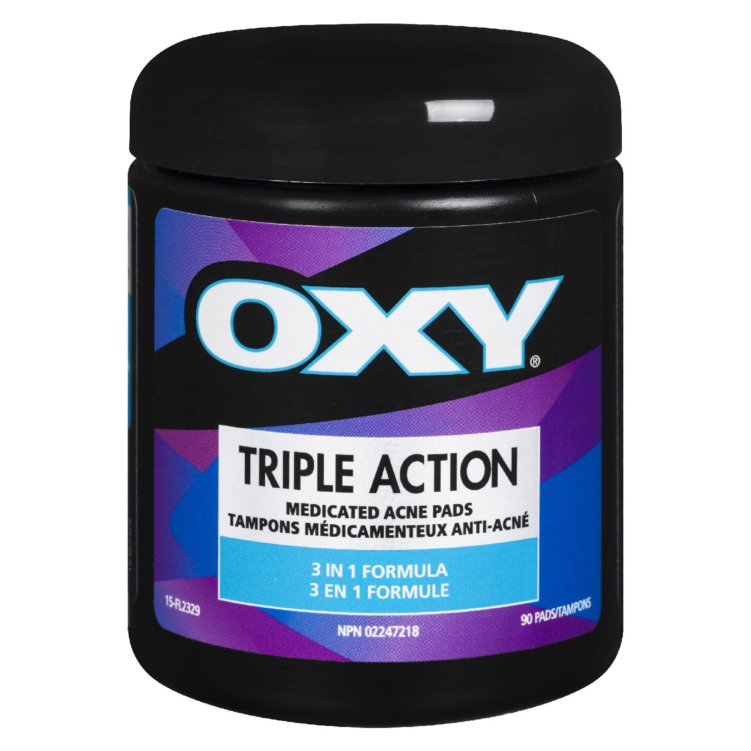 Oxy Medicated Acne Pads Triple Action 90's 0.37-Inches THE MENTHOLATUM CO INC.