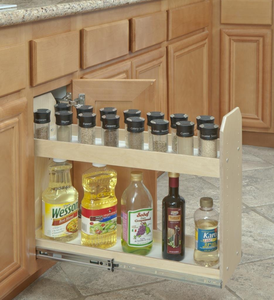 Slide-A-Shelf SAS-SI-2T-NL, Made-To-Fit Narrow Adjustable Two Tier Organizer, Full Extension, Low profile