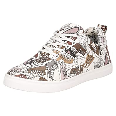 Kraasa 4215 Shoes Designer Printed Casual Sneakers  Buy Online at Low  Prices in India - Amazon.in 124d2d568