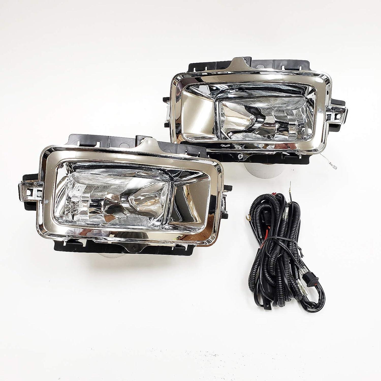 OE Style Chrome Trim Clear Lens with Brackets, Switch, Wires LEDIN For 2014 2015 Chevrolet Silverado 1500
