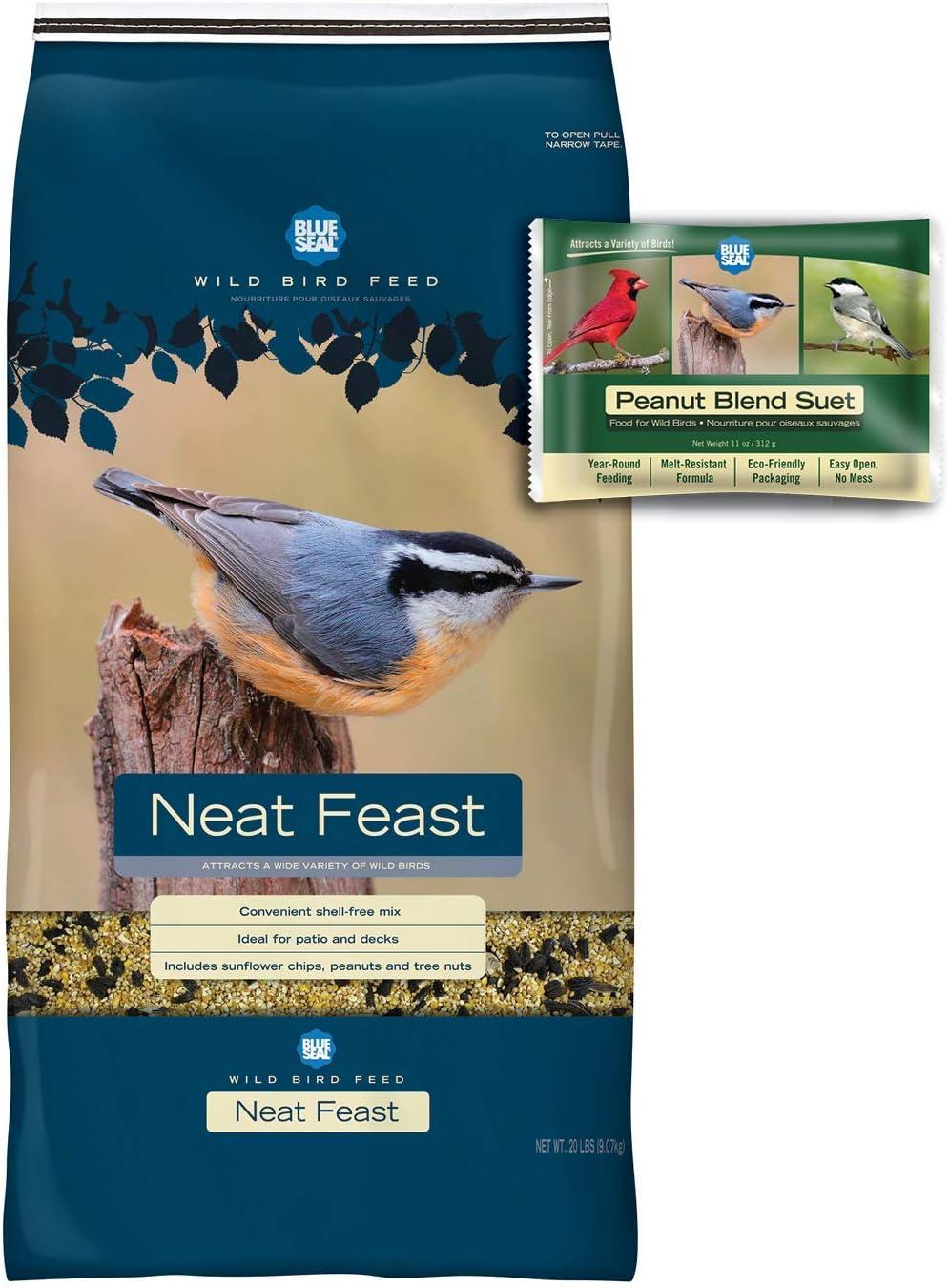 BLUE SEAL Neat Feast Bird Seed & Peanut Suet Cake Bundle