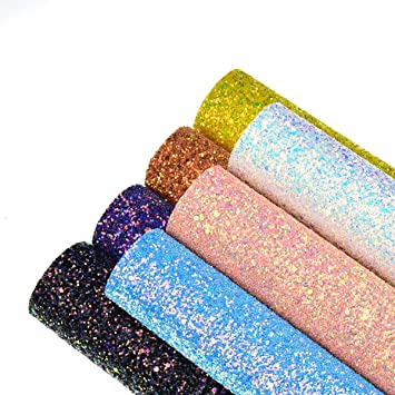 A4 or A5 Sheets Canvas Fabric Material for Crafts Arts /& Bows 7 Colours
