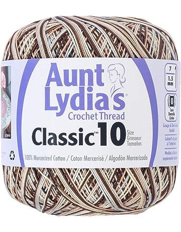 Aunt Lydia/'s ~ Metallic Crochet Thread ~ Classic Size 10 ~ 100 yards per spool