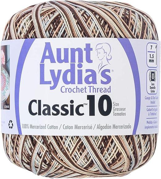 Aunt Lydia/'s Classic Ganchillo Hilo Talla 10-Wasabi-Lydias Wasabi