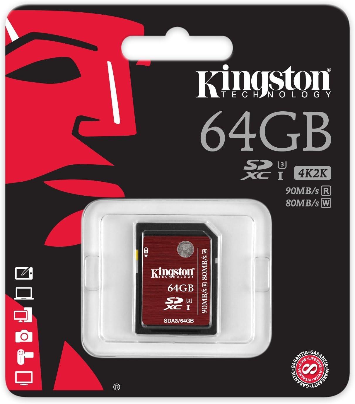 Kingston SDA3//128GB SDHC//SDXC 128GB Ultra High-Speed Class 3 Speicherkarte