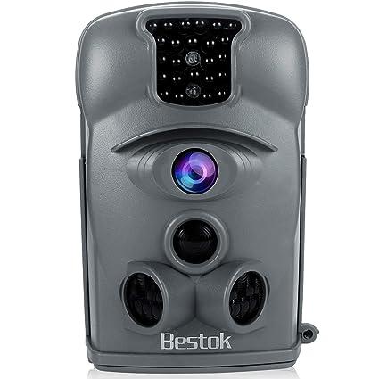 Bestok Cámara de Caza 12MP 1080P Cámara de Vigilancia Trail Cámara (Gris)