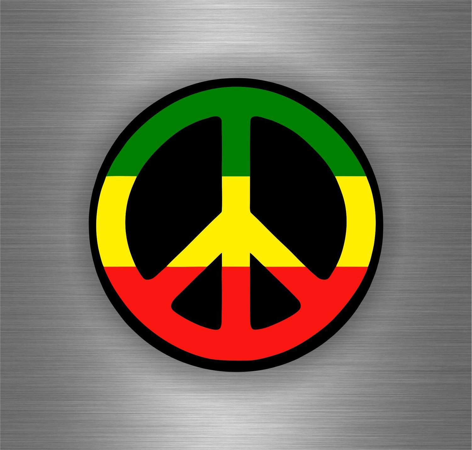 Amazon fr autocollant sticker voiture rasta reggae one love lion drapeau jamaique peace