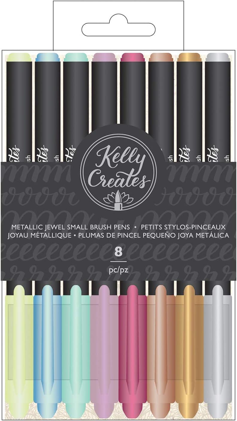Kelly Creates Small Brush Pens 8//Pkg-Metallic Jewel