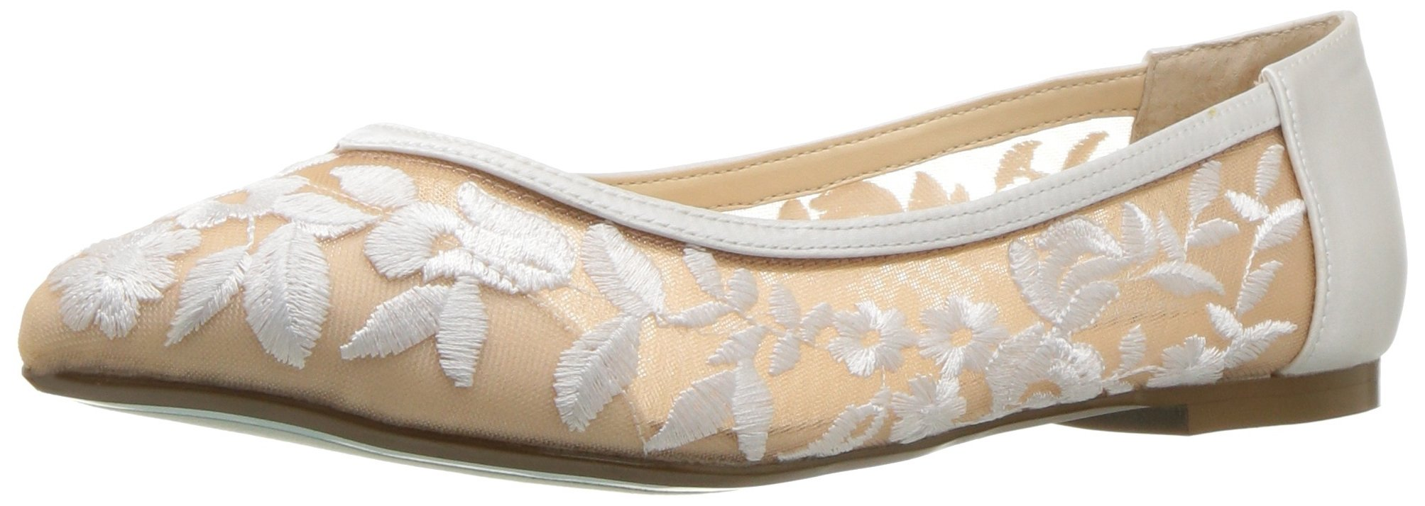 Blue by Betsey Johnson Women's Sb-Leah Ballet Flat, Ivory Fabric, 10 M US