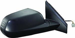 Fit System 63025H Passenger Side Mirror for Honda CR-V EX, LX Model, Black, PTM, Foldaway, Power