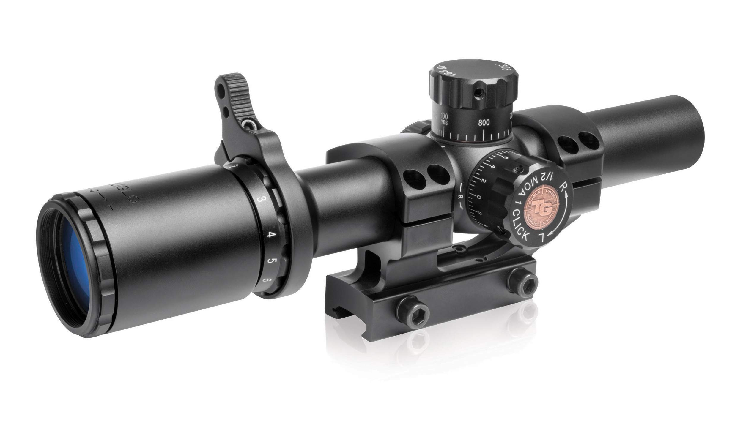 TRUGLO TRU-Brite 30 Series Illuminated Tactical Rifle Scope - Includes Scope Mount, 1-6 x 24mm by TRUGLO