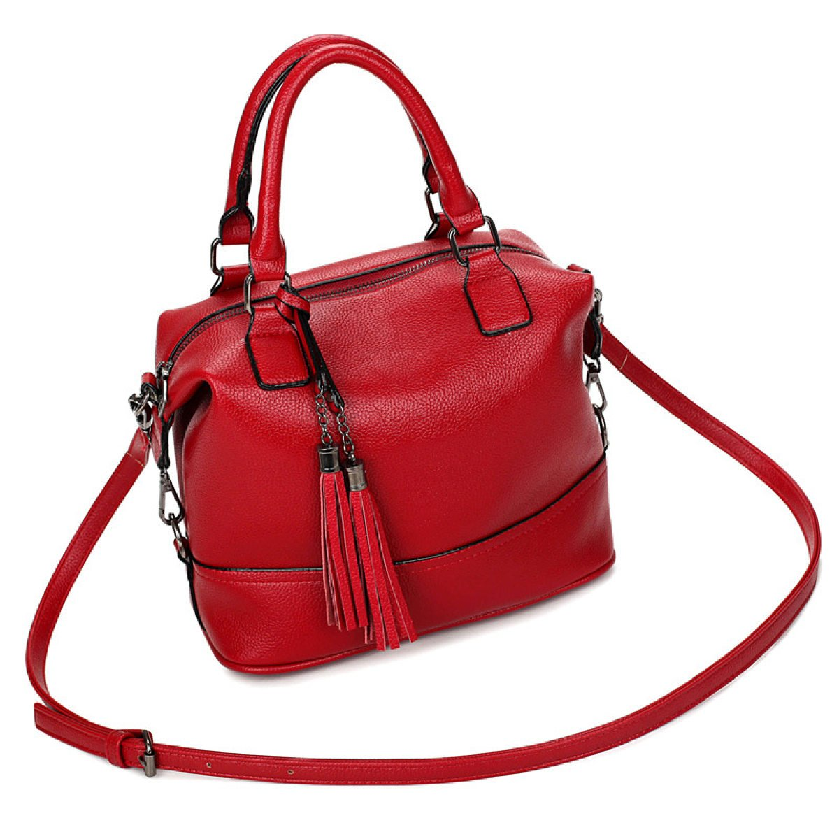 Generic Mujer Vintage–Bolsas de hombro de piel bolso de mano modelo, LakeBlue SCFGGcompany