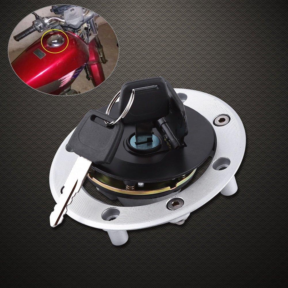 Bouchon R/éservoir de Carburant avec 2 Cl/és en Aluminium pour Moto