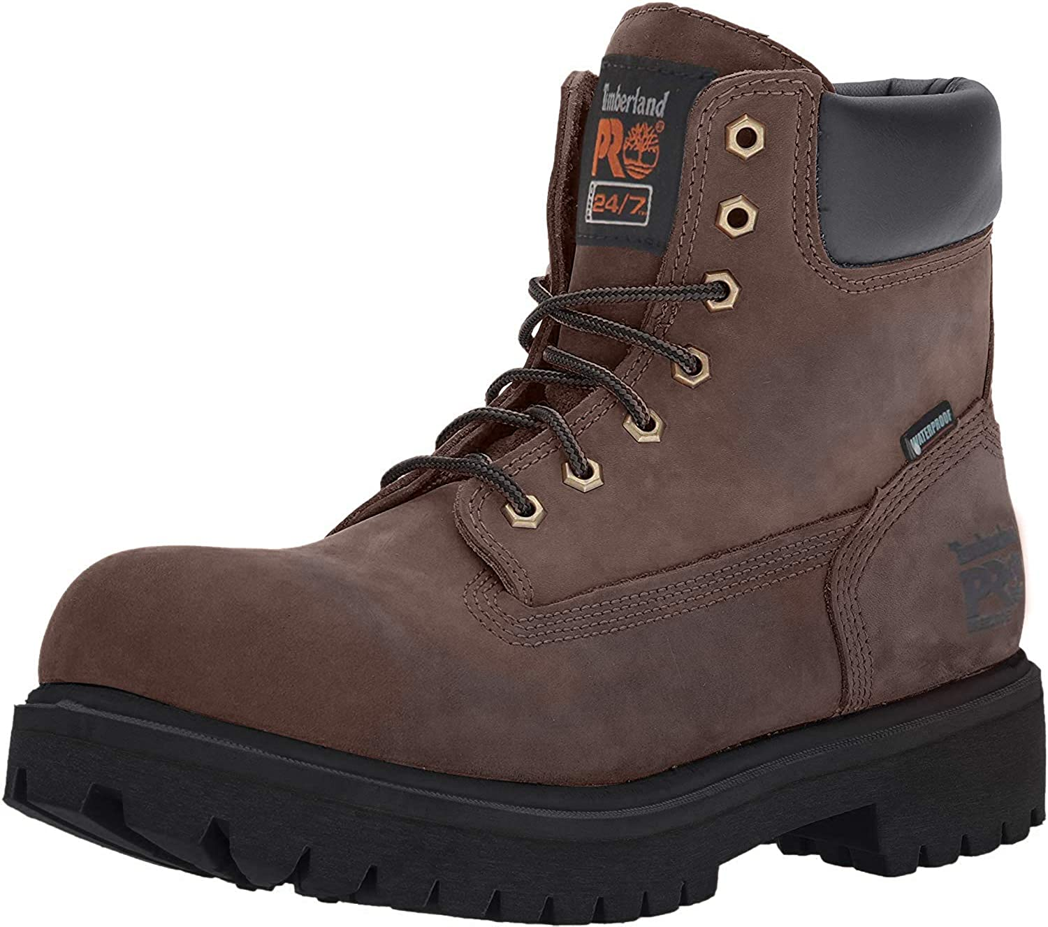 """Timberland PRO Men's 38021 Direct Attach 6"""" Steel-Toe Boot,Brown,13 W"""