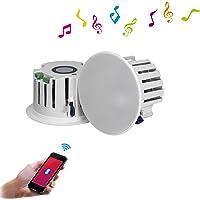 BeneGlow One Pair 6.5 '' HiFi Surround Sound Système de haut-parleurs sans fil Bluetooth V4.0 avec amplificateur intégré et puissance