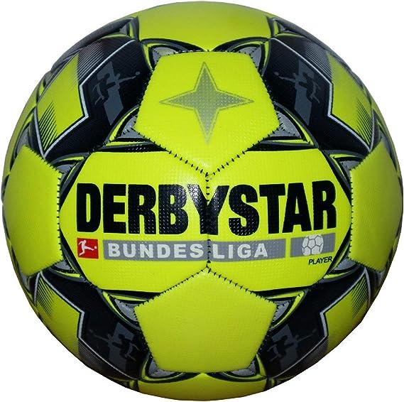 Derbystar Bundesliga - Balón de fútbol, Color Amarillo Fluorescente, 5: Amazon.es: Deportes y aire libre