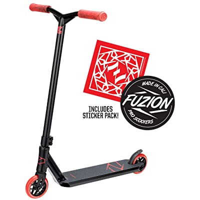 Fuzion Z250 Pro Scooters - Trick Scooter - Intermediate and Beginner Stunt Scooters for Kids 8 Years and Up, Teens and Adults – Durable Freestyle Kick Scooter for Boys and Girls (2020 - Black/Red): Sports & Outdoors