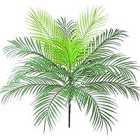 Aisamco Arbusto de hoja de palma tropical artificial