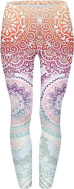 Amazon.com: JINKAIJIA calzas con estampado en 3D para yoga ...